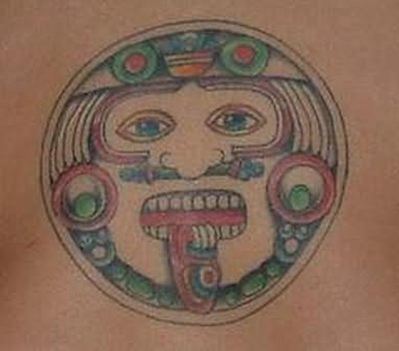 Aztec tattoo graphic