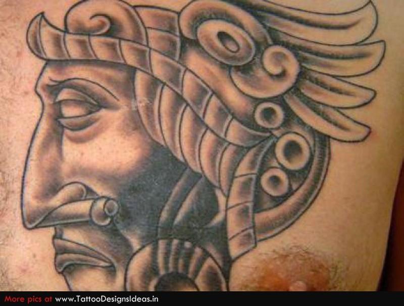 91819b9f4 Aztec warrior face tattoo - Tattoos Book - 65.000 Tattoos Designs