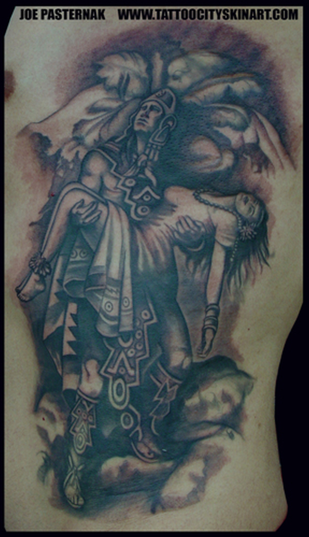 953d851d7 Aztec warrior holding maiden tattoo - Tattoos Book - 65.000 Tattoos ...