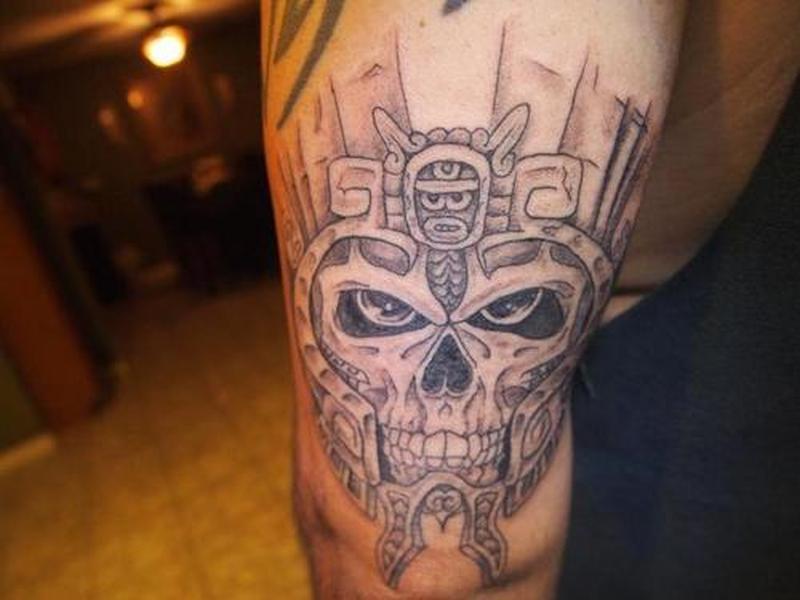 bd9c33cbb Aztec warrior skull tattoo design - Tattoos Book - 65.000 Tattoos ...
