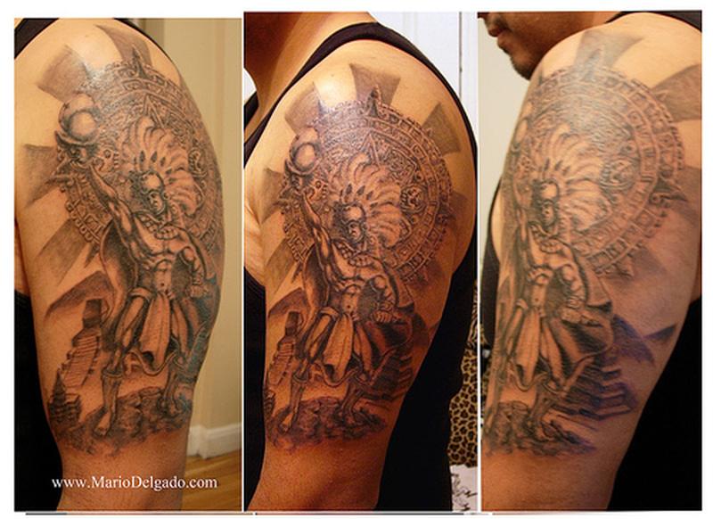 2653ba3e1 Aztec warrior tattoo design for arms - Tattoos Book - 65.000 Tattoos ...