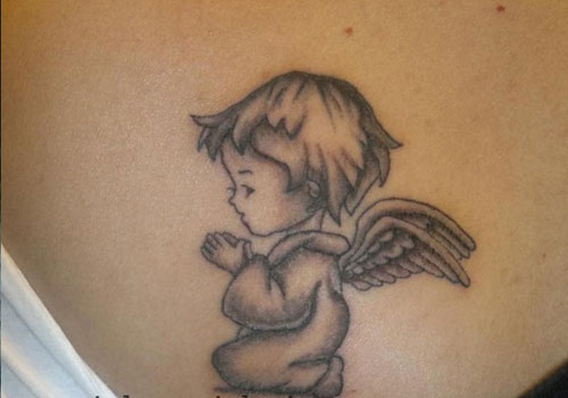 Маленькие тату ангелов
