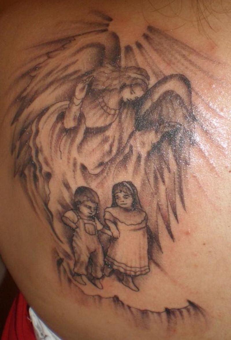 Тату ангелов для девочек