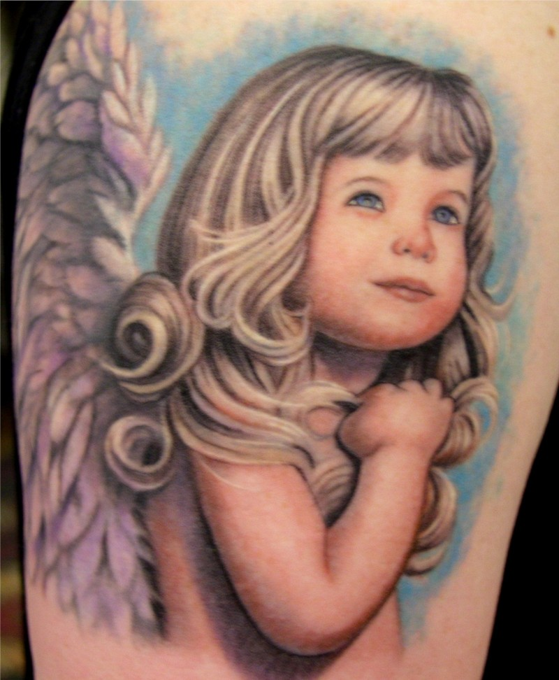 Baby arm tattoo designs for women