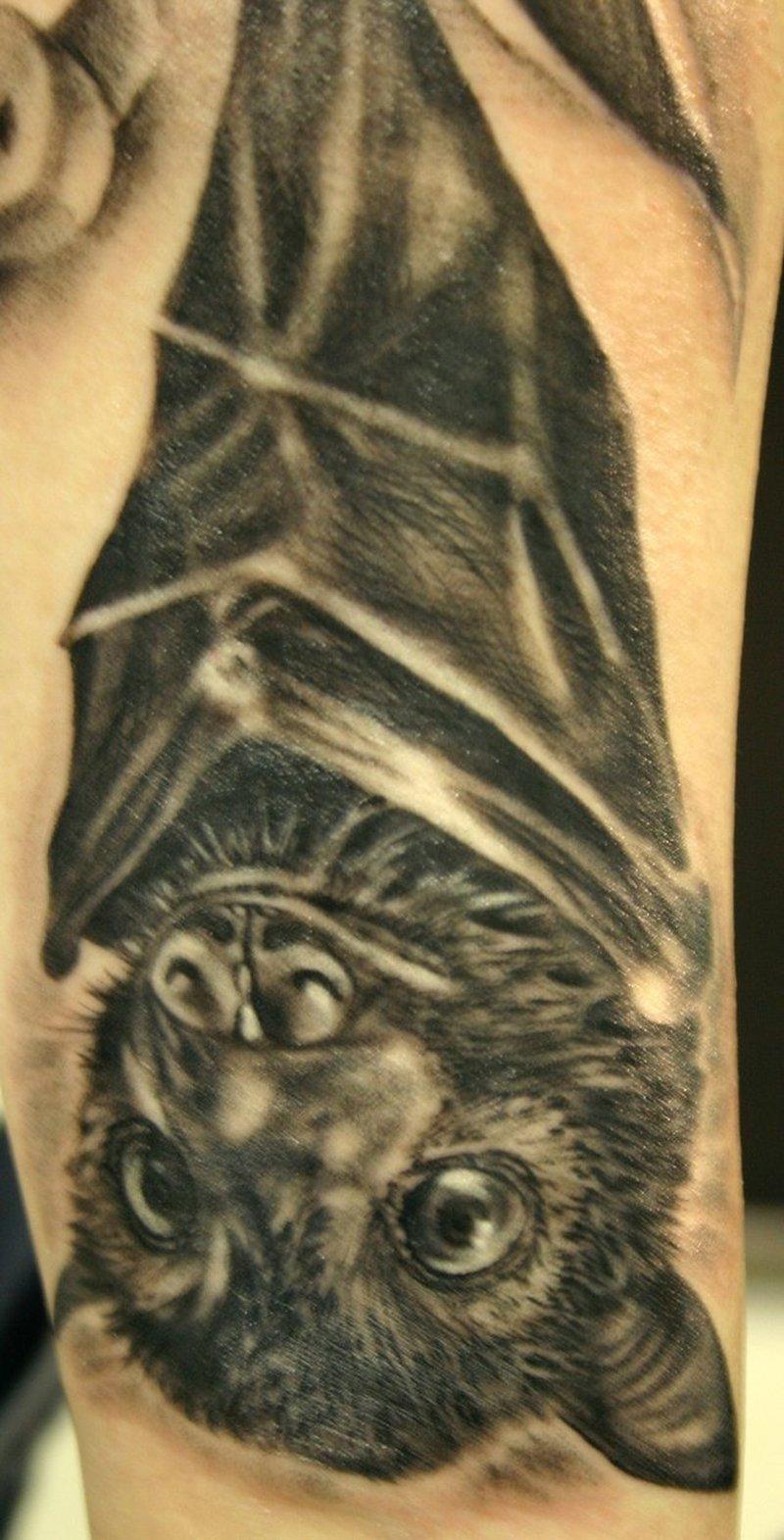Baby bat tattoo design