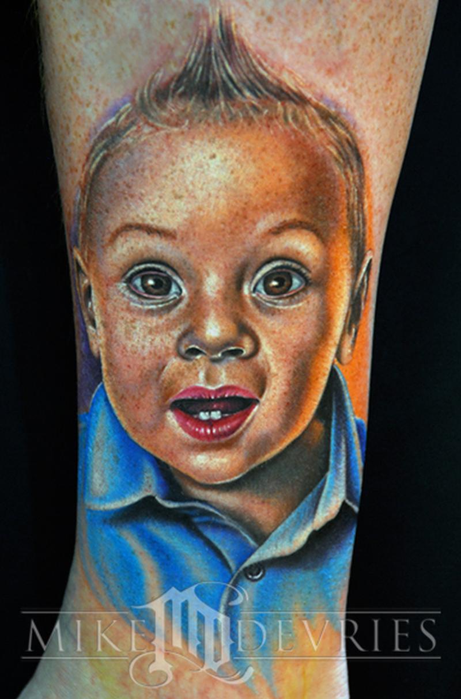 Baby boy tattoo