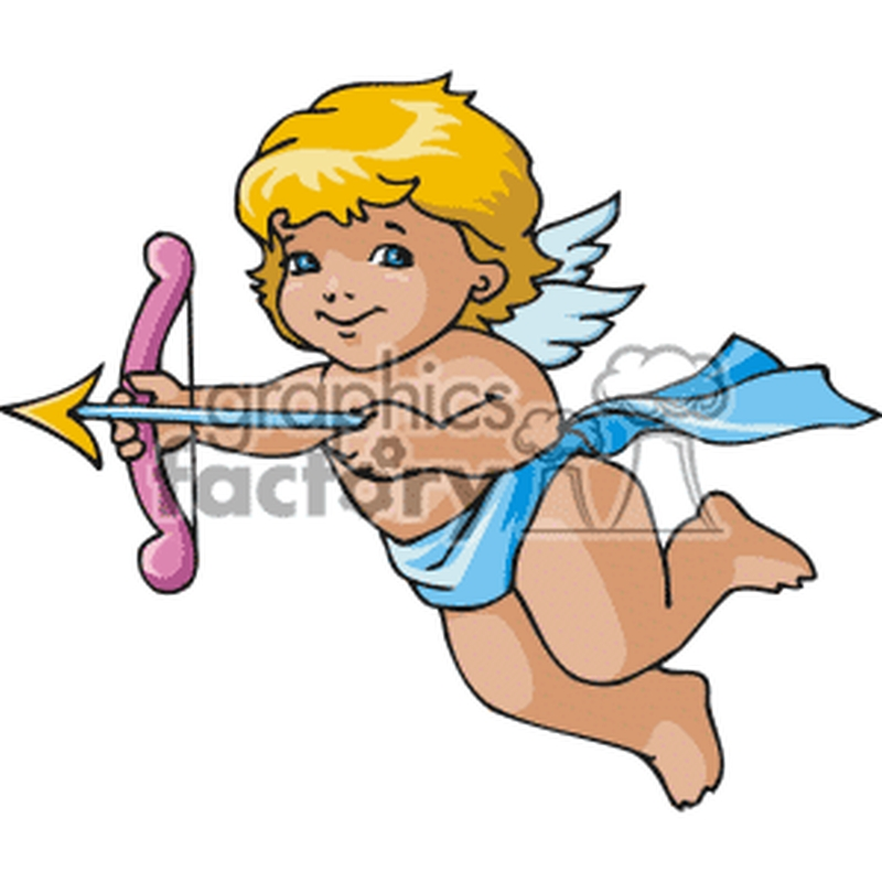 Baby cupid waiting to shoot tattoo design