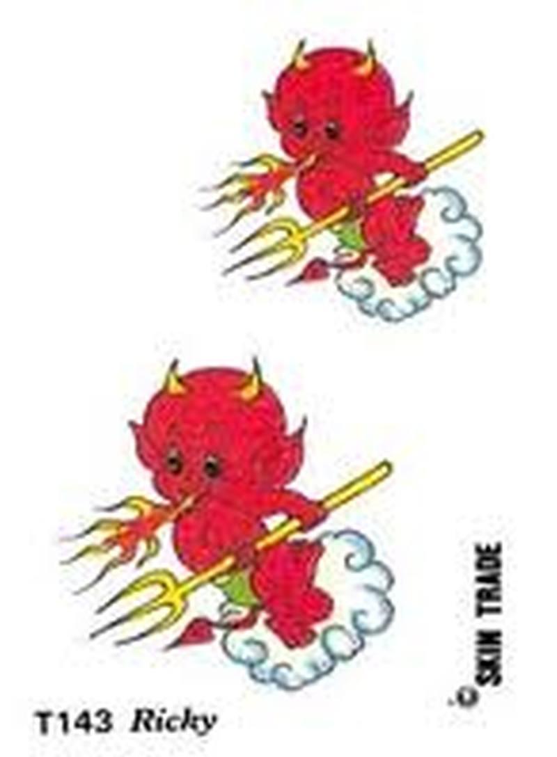 Baby devil tattoo designs