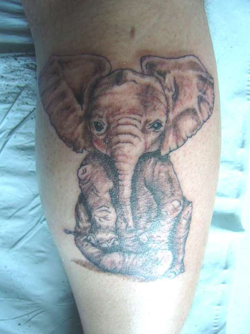 Baby elephant closeup tattoo tattoos book for Baby s first tattoo book