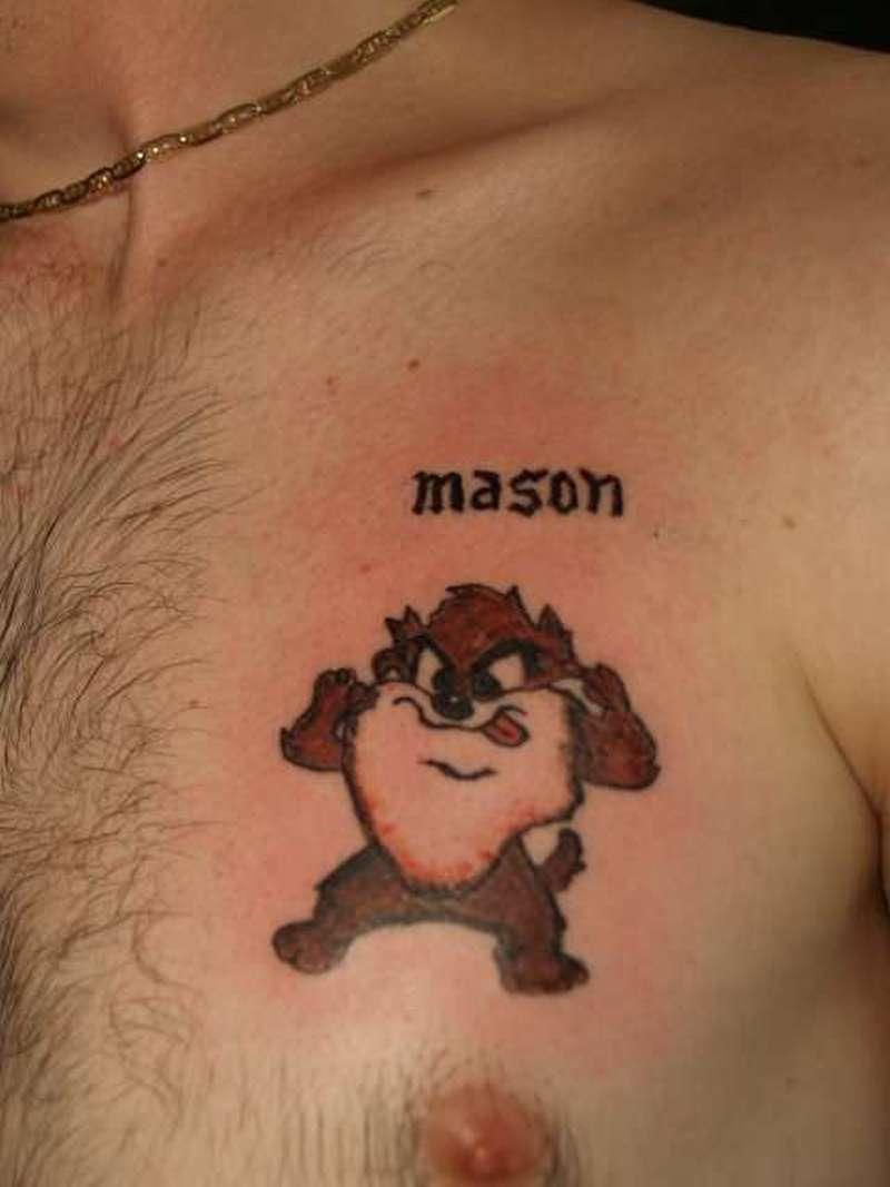 Baby taz tattoo