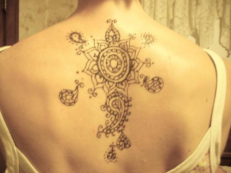 7004d23e7 Back piece henna tattoo design - Tattoos Book - 65.000 Tattoos Designs