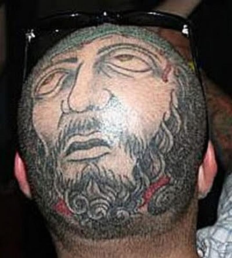 bald head face tattoo design tattoos book tattoos designs. Black Bedroom Furniture Sets. Home Design Ideas
