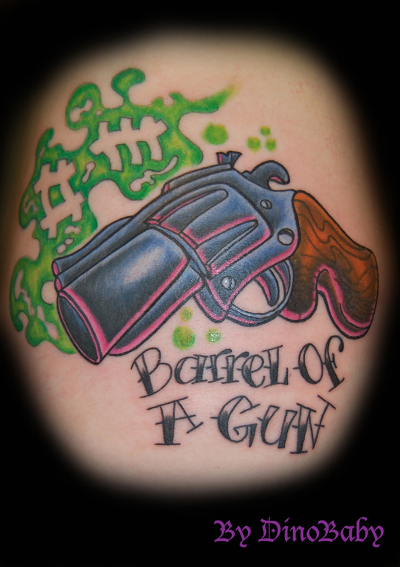 barrel of a gun tattoo design tattoos book tattoos designs. Black Bedroom Furniture Sets. Home Design Ideas