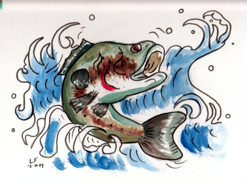Bass Fish Tattoo Design Tattoos Book 65000 Tattoos Designs
