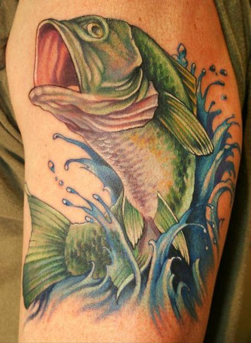 Bass Fish Tattoo For Shoulder Tattoos Book 65 000 Tattoos Designs