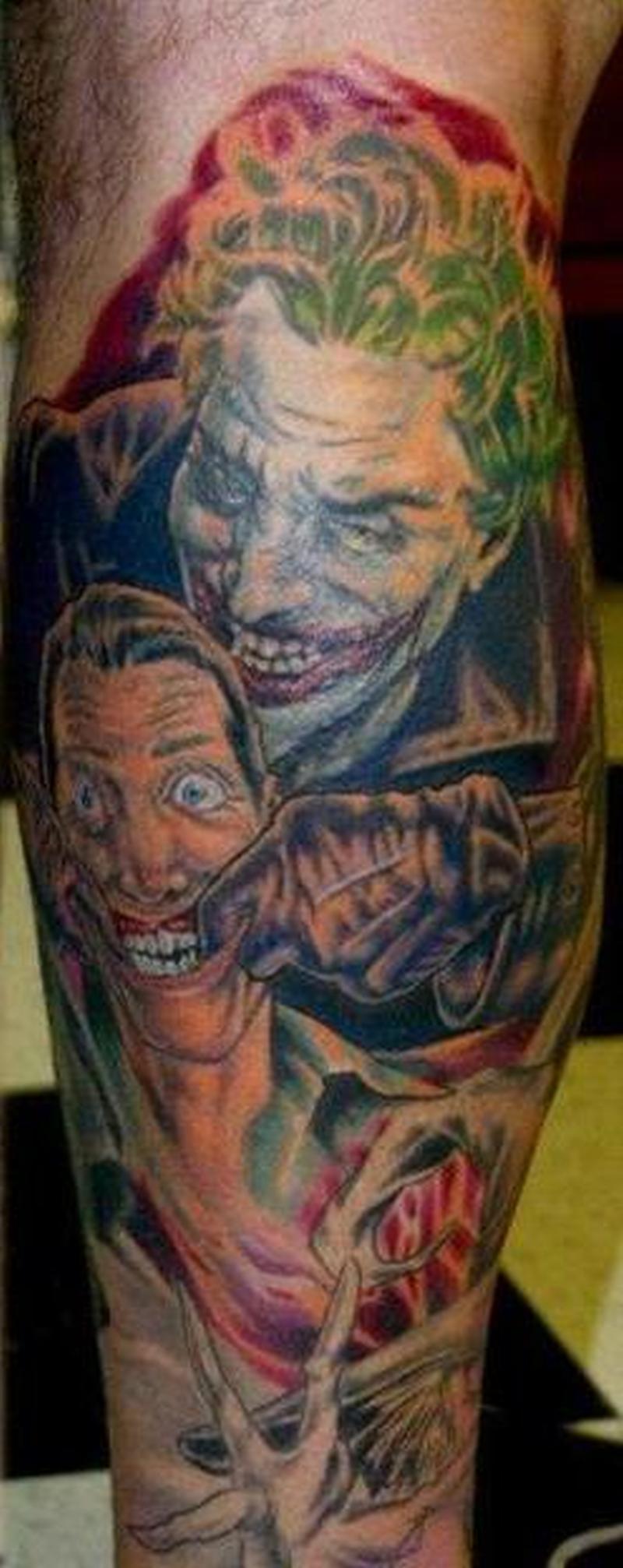 Batman joker tattoo design tattoos book tattoos for Joker batman tattoo