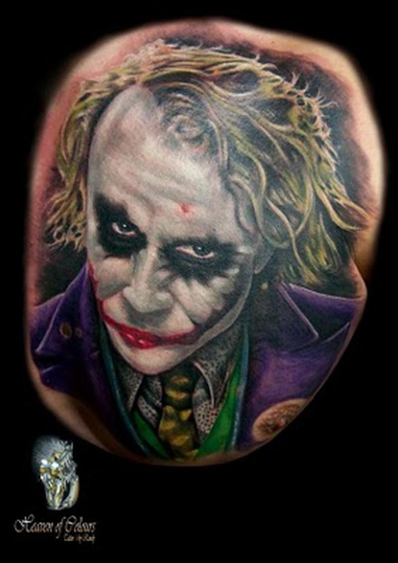 Batman joker tattoo image 2 tattoos book for Joker batman tattoo