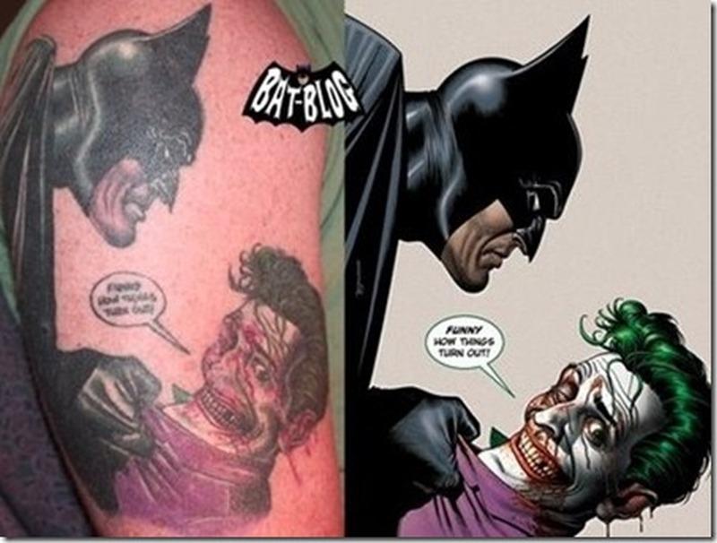 Batman vs joker comic tattoo design tattoos book 65 for Joker batman tattoo