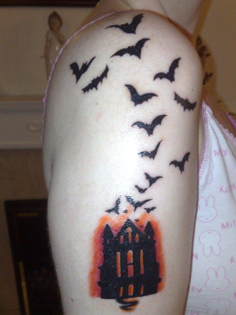 Bats tattoo design for arm