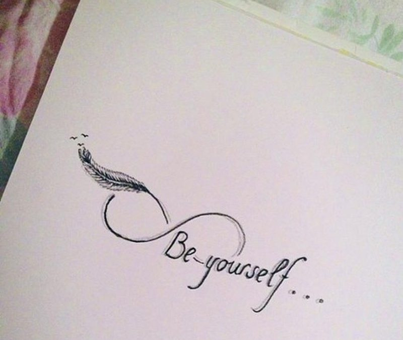 Be yourself infinity symbol tattoo design