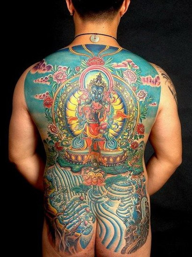 Bear pictures on full back tattoo tattoos book for Whole back tattoos