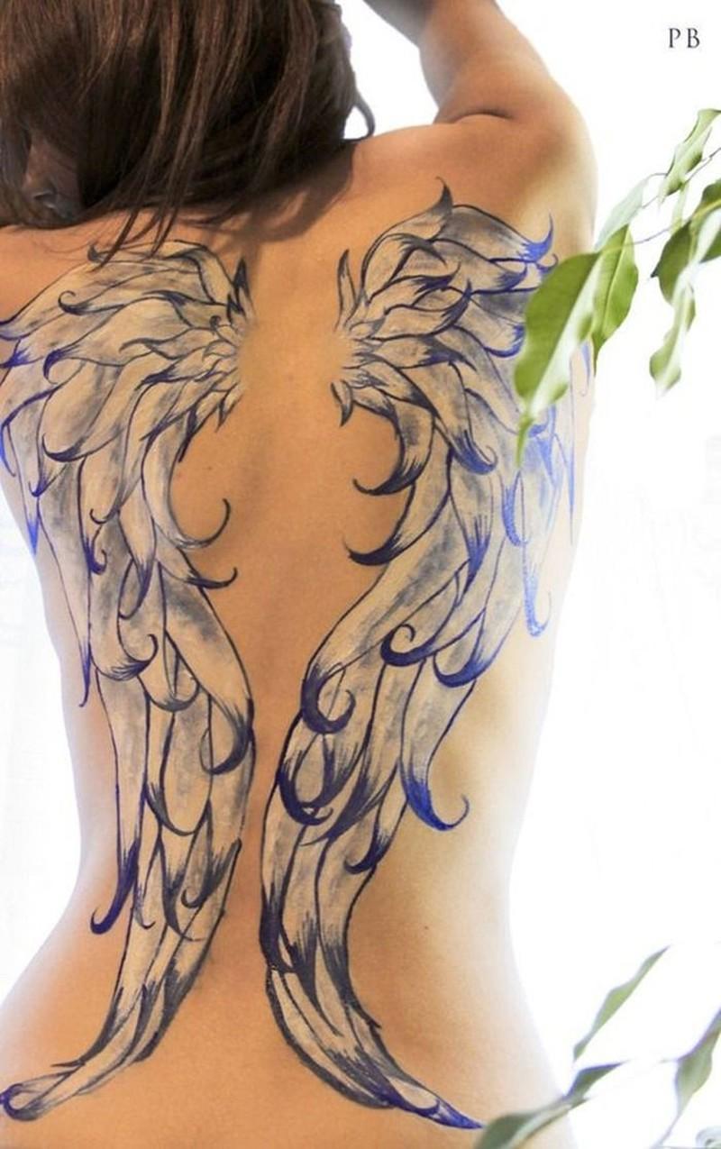 6d235a17a648d Beautiful angel wing tattoo for women - Tattoos Book - 65.000 ...