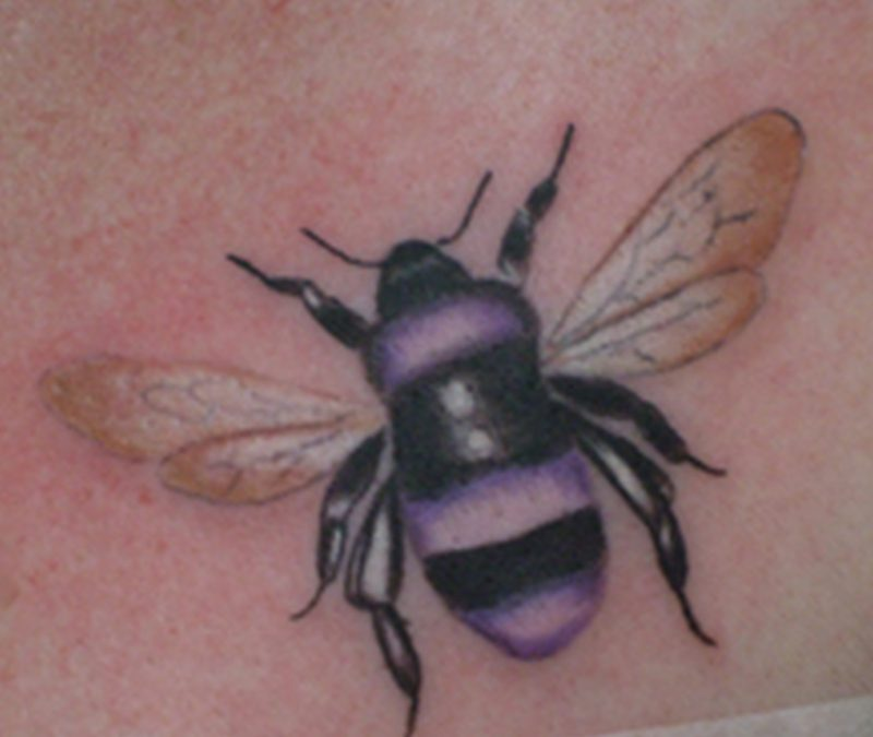 Beautiful bumblebee tattoo