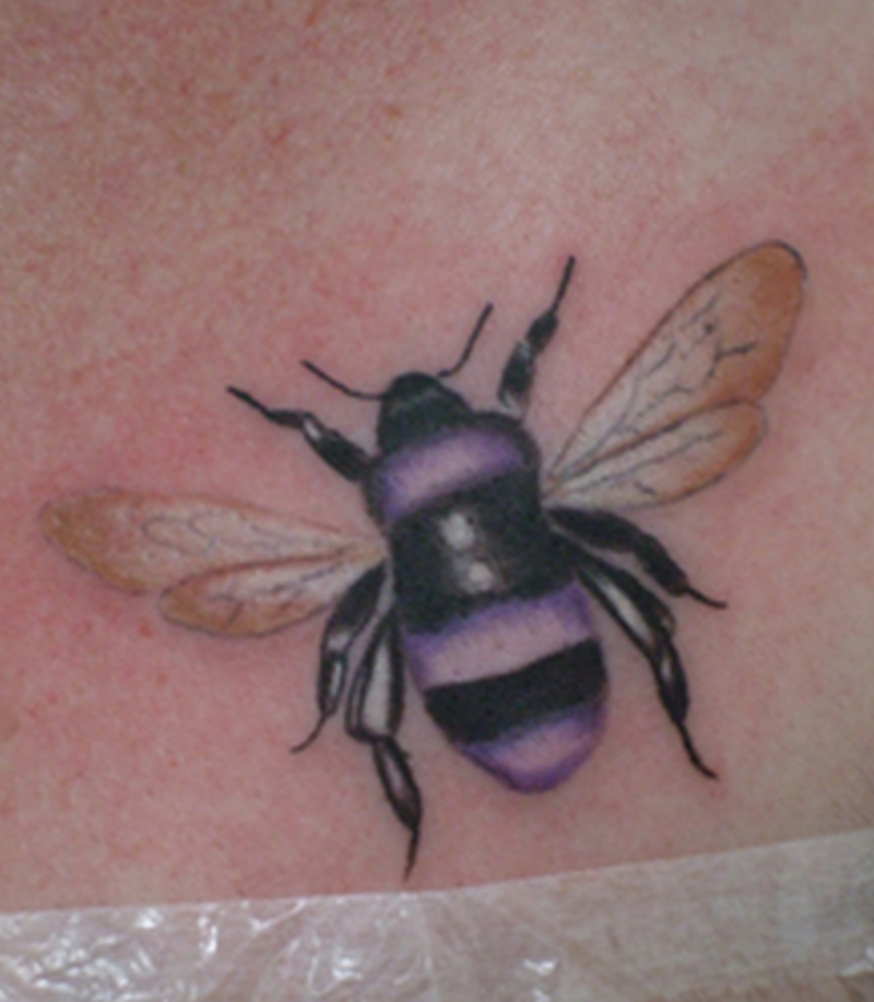 Beautiful bumblebee tattoo