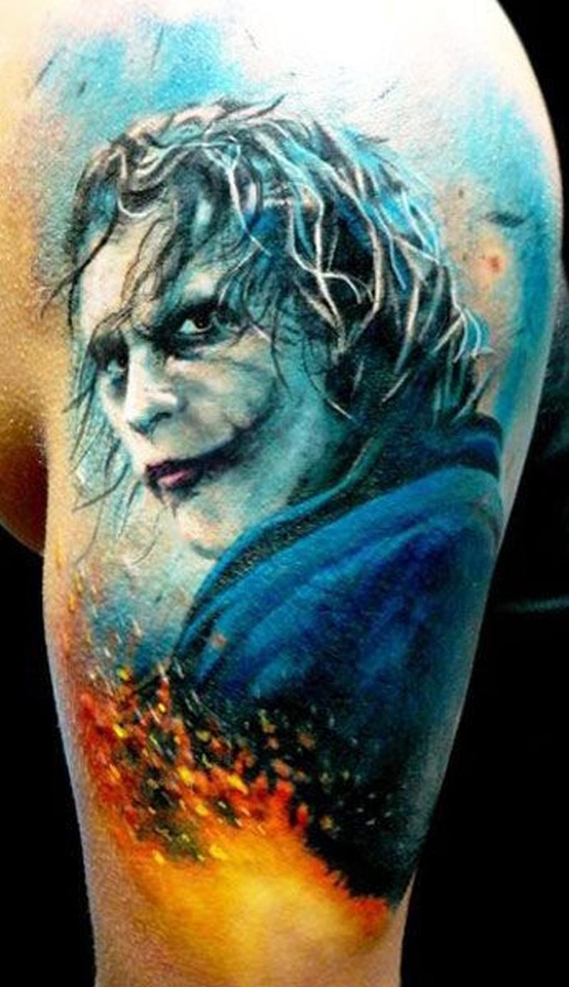 dca599b06a0ee Beautiful joker tattoo by adam kremer - Tattoos Book - 65.000 ...