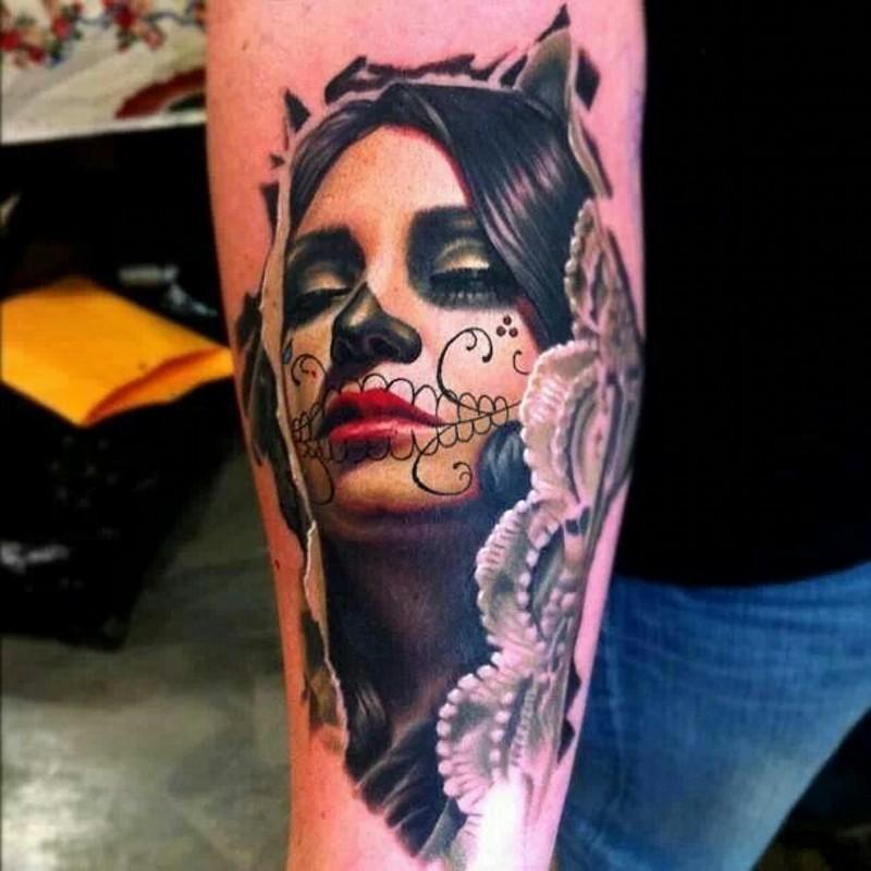 Beautiful santa muerte girl tattoo tattoos book for Tattoo girl book