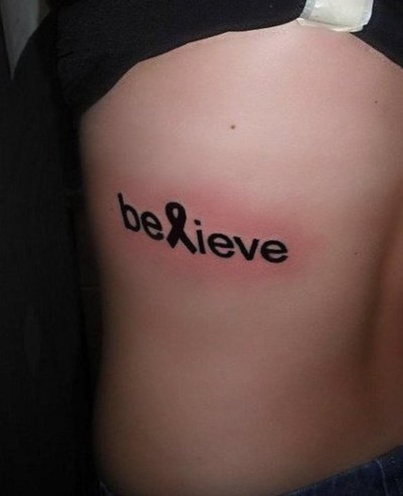 Believe breast cancer tattoo 2 - Tattoos Book - 65.000 Tattoos Designs