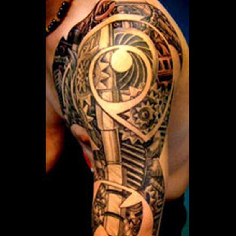 best-3d-biomechanical-tattoo-design-art
