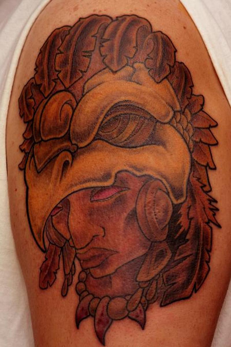 Best aztec warrior tattoo