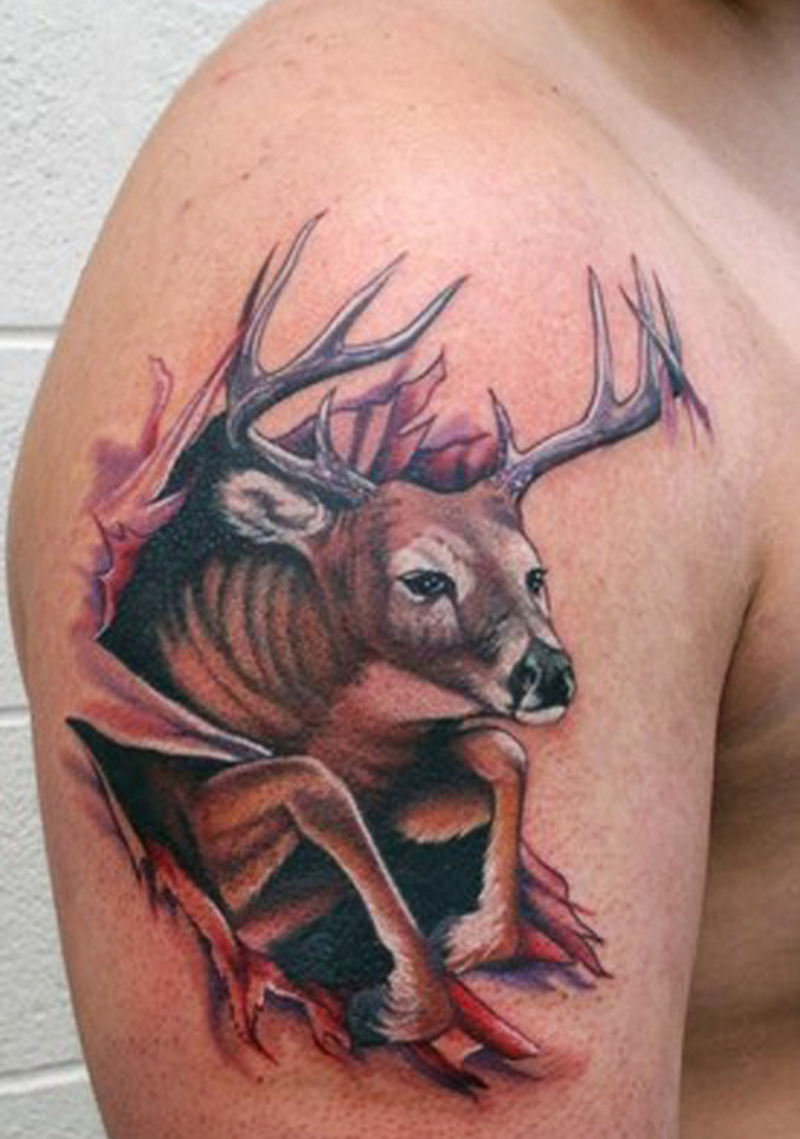 Best deer arm tattoo design