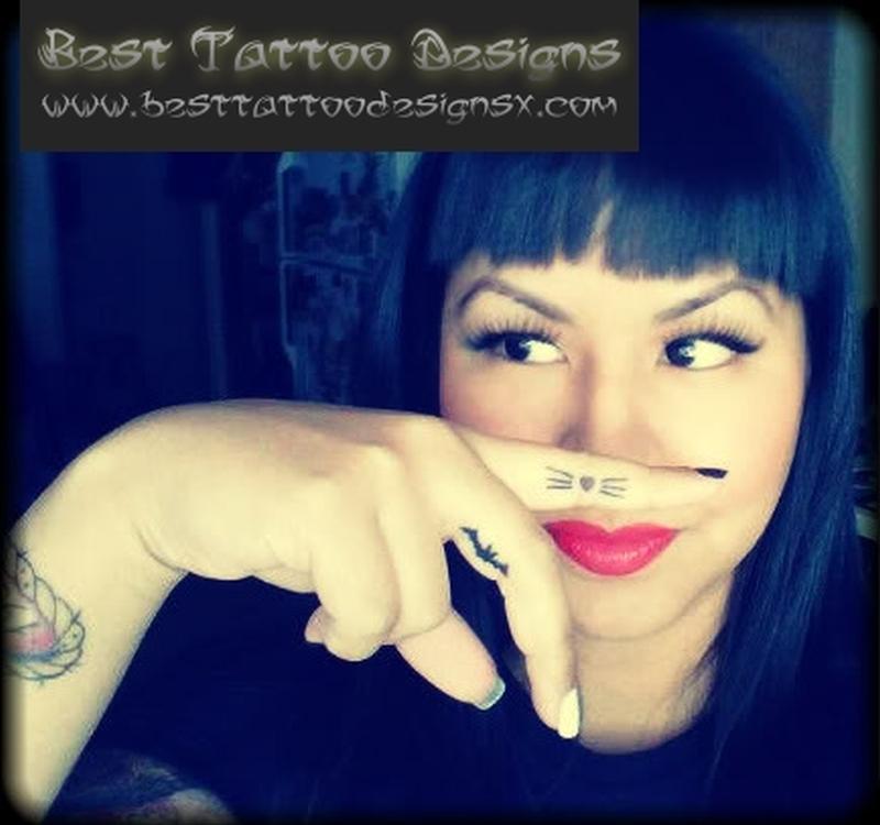 Best finger tattoo for girls