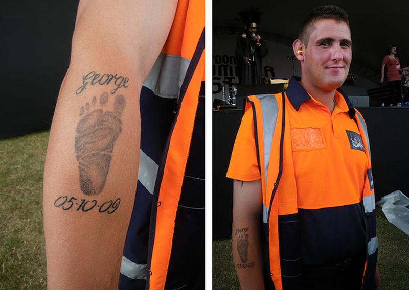 Best footprint tattoo design for men