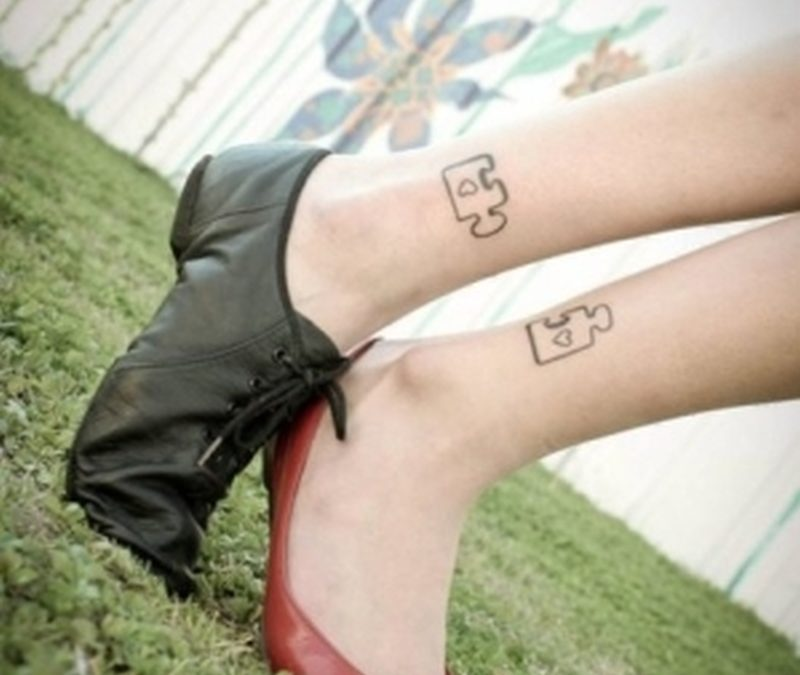 Best friends tattoo on ankles