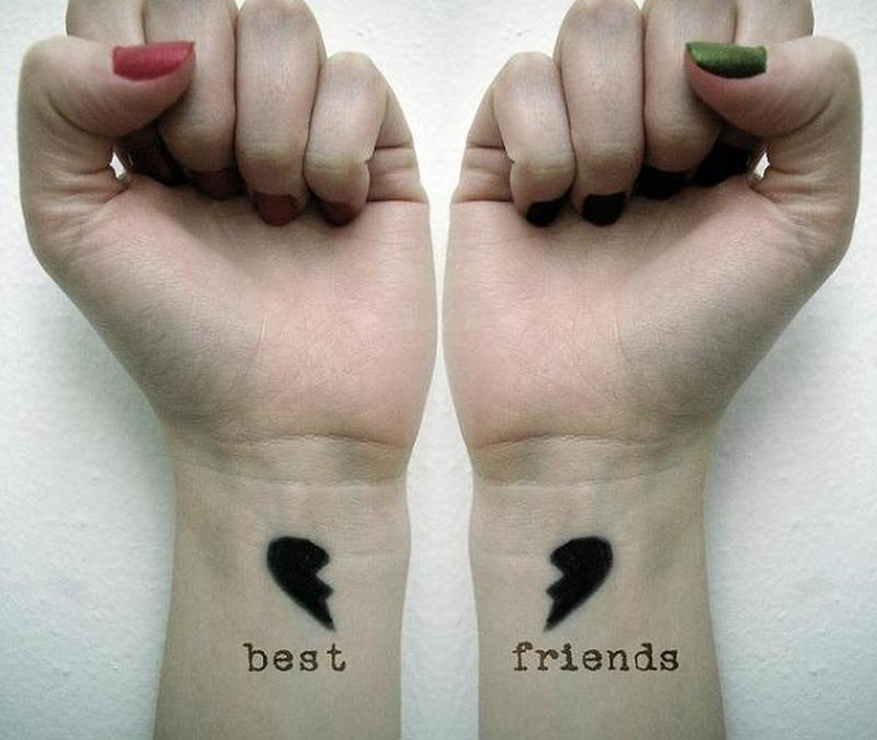 Best friends tattoo on wrist
