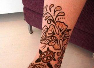 Mehndi Tattoo Designs For Legs : Henna tattoos book