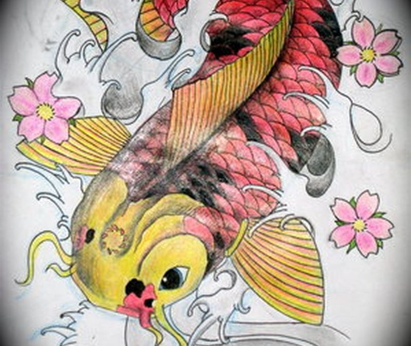 Best japanese koi fish tattoo design