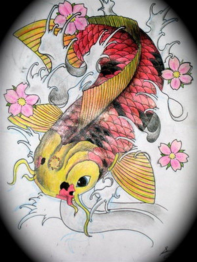 Best japanese koi fish tattoo design