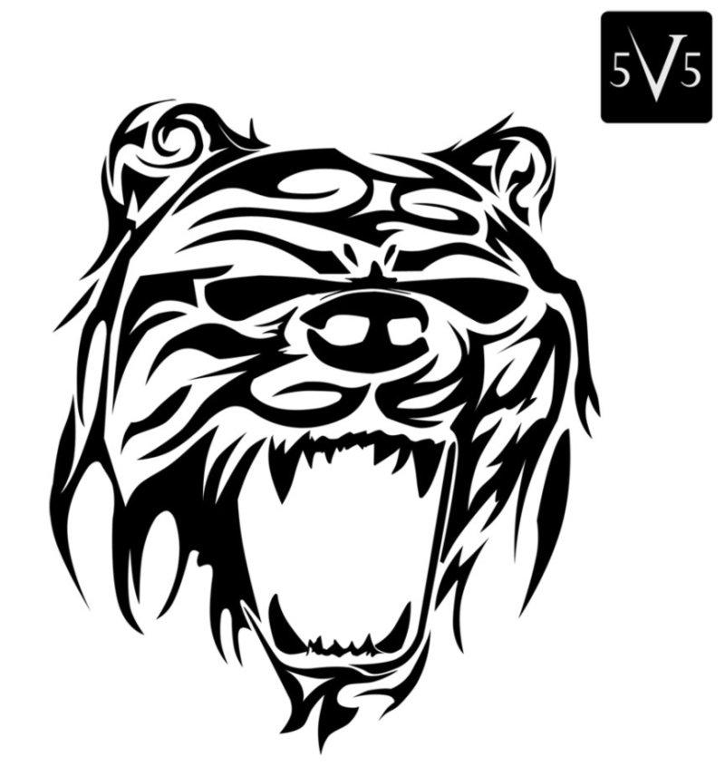 15568758a Best tribal bear face tattoo design - Tattoos Book - 65.000 Tattoos ...
