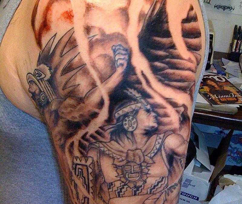 Biceps aztec tattoo