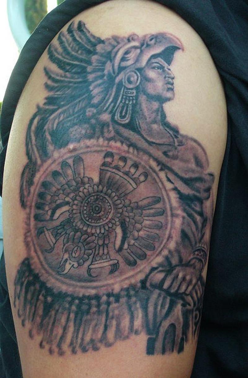 1d8a226bc Biceps aztec warrior tattoo - Tattoos Book - 65.000 Tattoos Designs