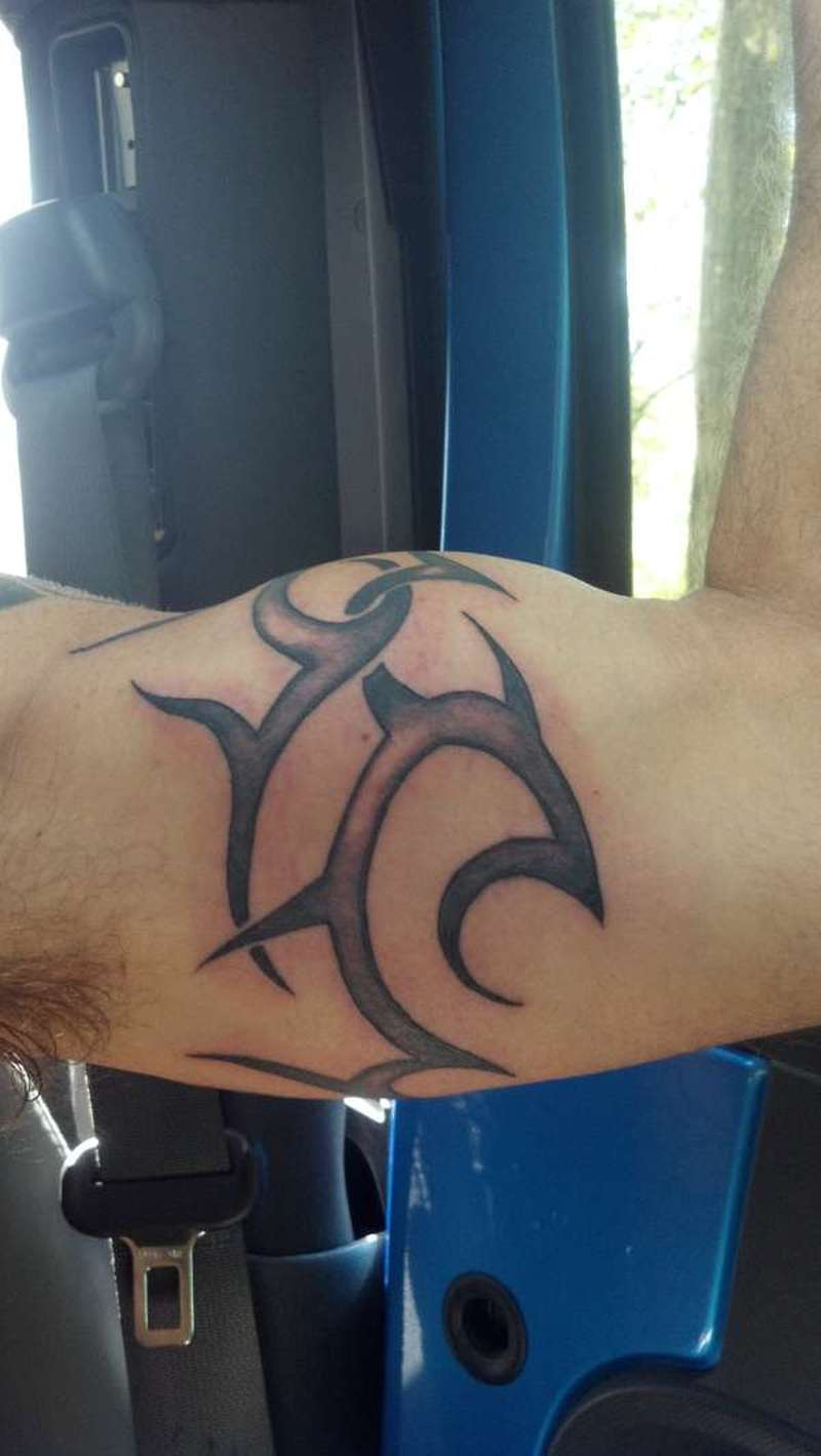 Biceps tribal tattoo design