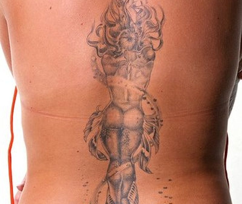 Big anchor tattoo for back