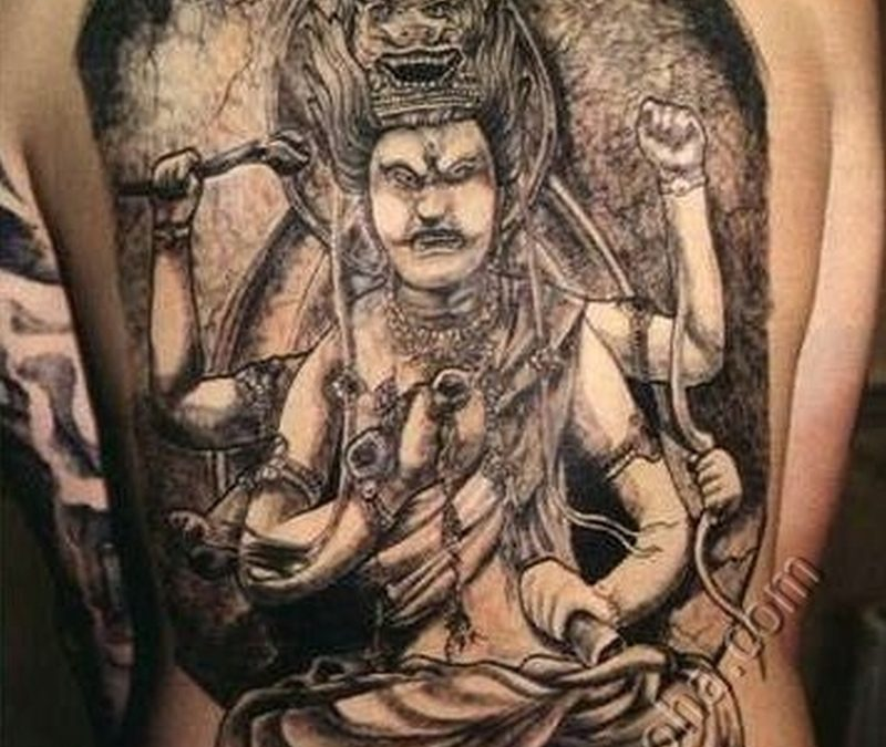 Big asian tattoo for back