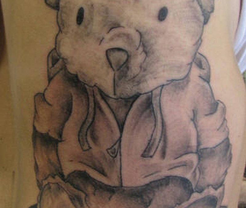 Big bear tattoo on arm