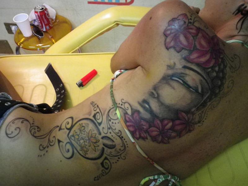 Big buddha tattoo design