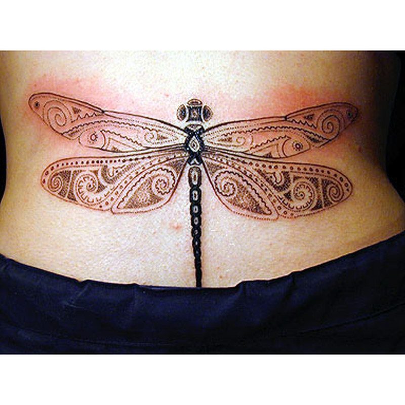 Big dragonfly tattoo design
